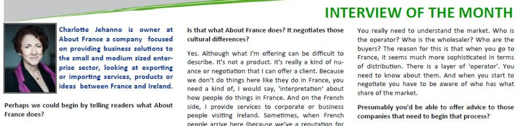 Charlotte Jehanno About France ifcci interview